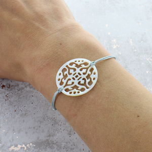 Mother Of Pearl Disc Bracelet