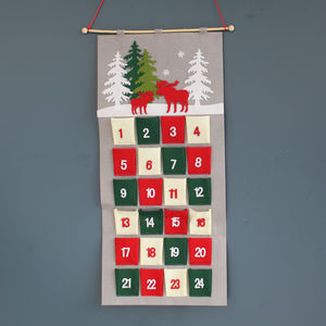 Hanging Felt Christmas Advent Calendar - advent calendars