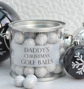 Personalised Bucket Of Chocolate Golf Balls - chocolates & confectionery
