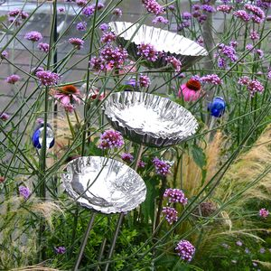 Garden Birdbath Or Birdfeeder Steel Chalice - gifts for mothers