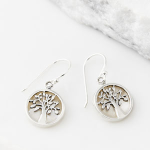 Pearl Tree Of Life Healing Earrings