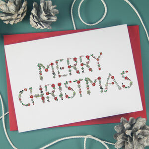 Merry Christmas Holly Berry Cards