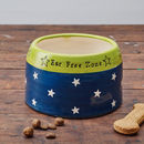 Springer Spaniel bowl (midnight blue/granny smith green)