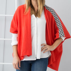 Coral Knitted Lambswool Cardigan