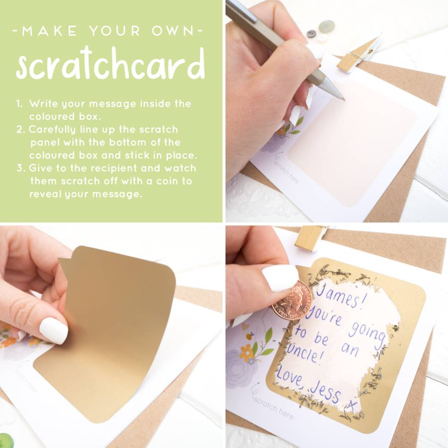 Personalised Will You Be My Bridesmaid Scratch Card By Joanne