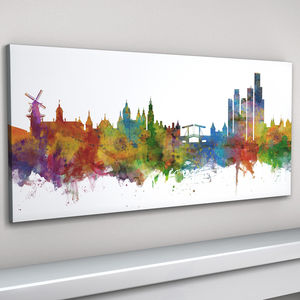 Amsterdam Skyline Cityscape Art Print - architecture & buildings