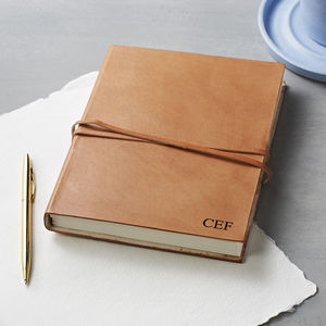 Personalised Monogram Leather Journal - off to university