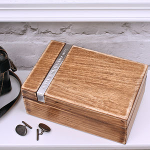 Personalised Wooden Cufflink Box - bedroom