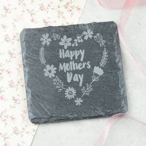 Happy Mothers Day Engraved Personalised Coaster - placemats & coasters