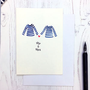 Breton Design Mr And Mrs Card - anniversary cards