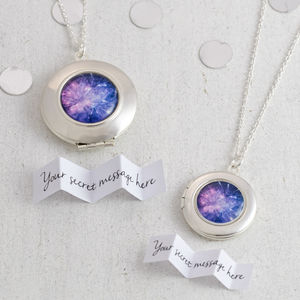 Personalised Fireworks Locket Necklace