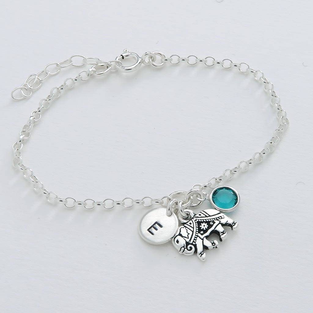 Personalised Elephant Bracelet