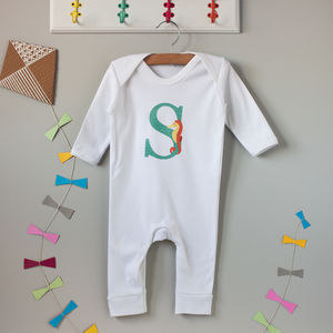 S Is For Seahorse Babygrow - new in baby & child