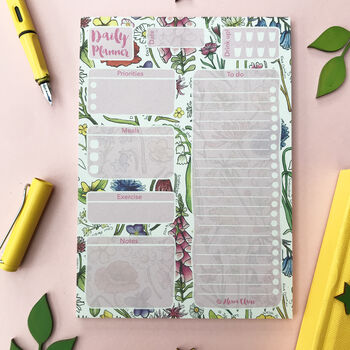 Wildflowers Daily Planner Notepad