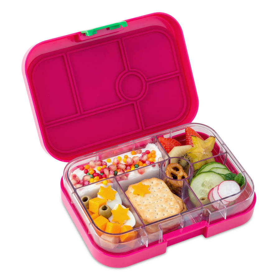 yumbox in rosa pink the leakproof bento lunch box by cheeky elephant. Black Bedroom Furniture Sets. Home Design Ideas