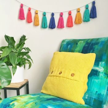 Tropical Cotton Tassel Garland