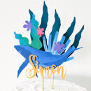 3D Blue Whale Under The Sea Cake Topper