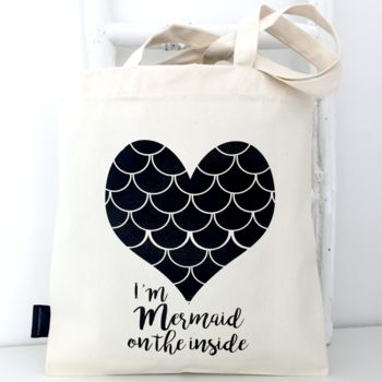 'Mermaid On The Inside' Shopping Tote