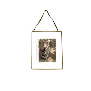 Antique Brass Hanging Photo Frame