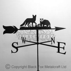 Fox And Badger Weathervane