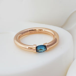 Gold Tension Ring - fine jewellery