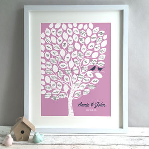 Personalised Tree Wedding Guest Book Print