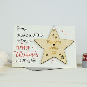 Personalised Mummy And Daddy's Christmas Card - cards