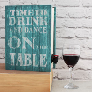 'Time To 'Dance' Wine Box Cover Up - storage & organisers