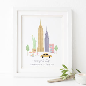 Personalised New York City Print