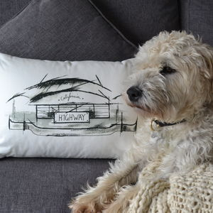 'American Highway' Cushion - winter sale