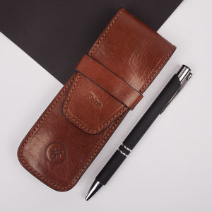 Personalised Luxury Leather Pen Holder. 'The Pienza'