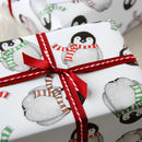 Penguin Wrapping Paper With Tags