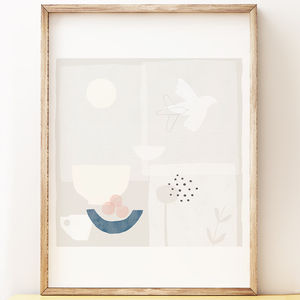 'Morning Flight' Abstract Art Print - still life