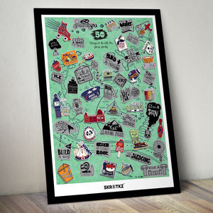 Personalised 51 Things To Do With Family Scratch Poster - gifts for mothers