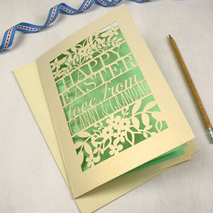 Personalised Papercut Happy Easter From… Card