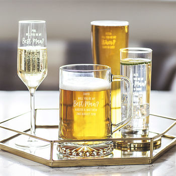 Personalised 'Will You Be My Best Man?' Glass
