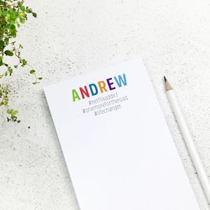 Personalised #Hashtag To Do List Notepad