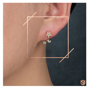 Celestial Two Way Earrings - christmas jewellery