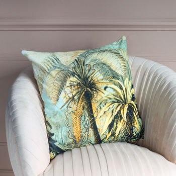 Tropical Velvet Cushion | With Pad