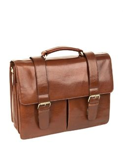 Personalised Brown Leather Briefcase - holdalls & weekend bags