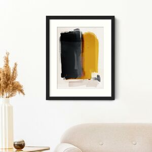Mustard Shades Abstract Art