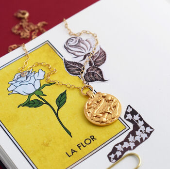 Personalised Rose And Snake Necklace