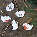 Porcelain Robin Decorations