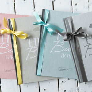 Personalised Baby Journal And Record Book
