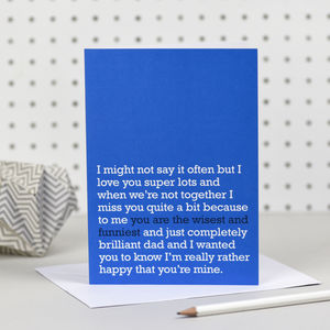'You Are The Wisest And Funniest' Dad Card