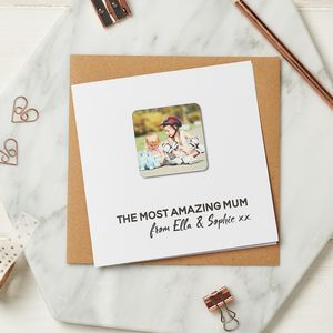 Personalised Photo Fridge Magnet Keepsake Card