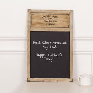 Vintage Home Blackboard - kitchen