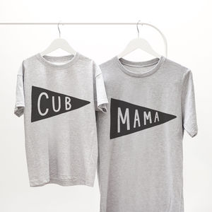 Mama And Cub T Shirt Set
