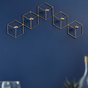 Hexagon Wall T Light Holder - candles & home fragrance