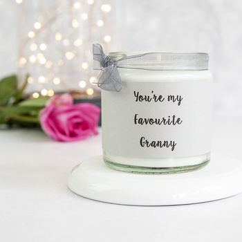Personalised Favourite Granny Candle